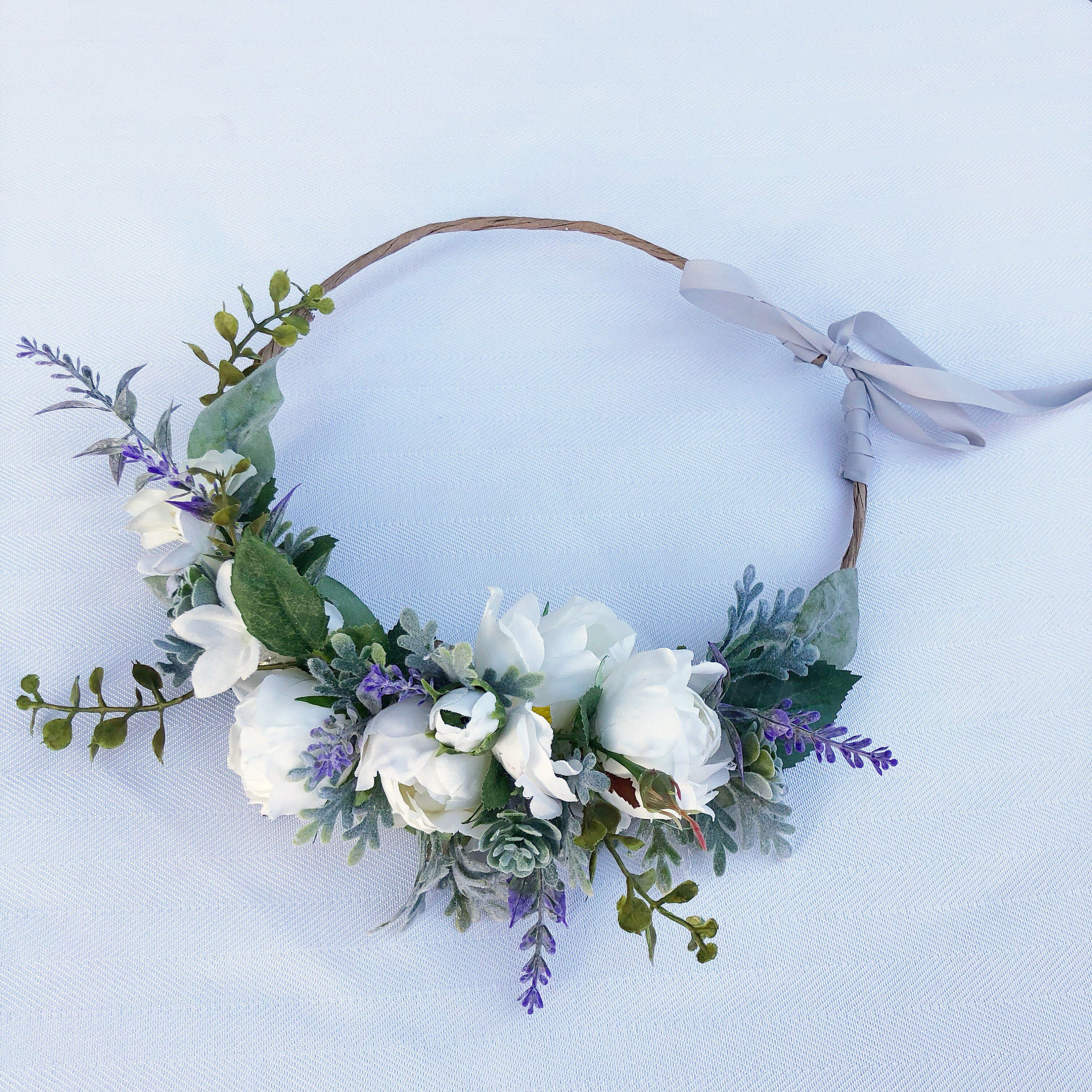 White Roses Flower Crown Faux White Roses And Succulents Etsy Purple Floral Crown Bridal Floral Crown White Flower Crown