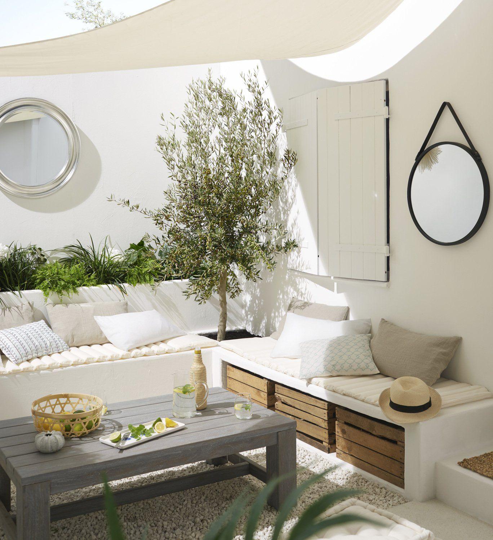 Terrasse Entree exterieur / Abords Blanc / Beige / Naturel Naturel ...