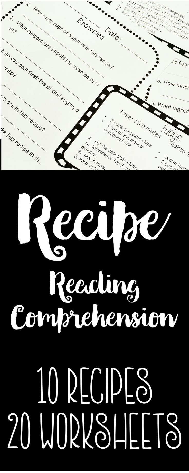 worksheet Functional Reading Comprehension Worksheets recipe reading comprehension life skills and functional literacy literacy