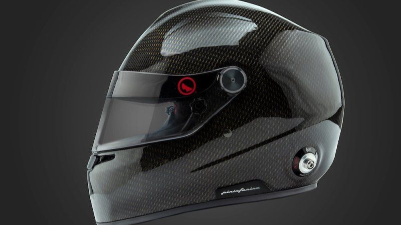 Pininfarina Designed Racing Helmets Feature Water Cooling System