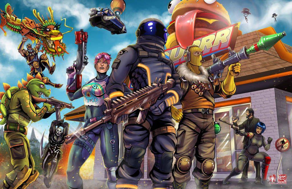 The Fantastic World Of Fortnite Art 2048x1152 Wallpapers Game Art Art Wallpaper