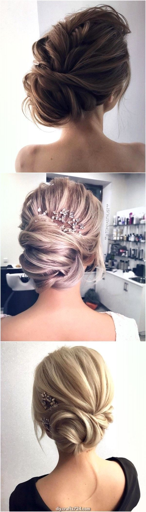 Incredible elegant updo marriage ceremony hairstyles