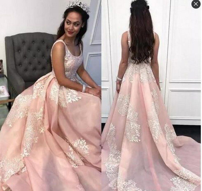 Prom Dresses Long Scoop Lace Appliques A Line | S16 Dresses ...