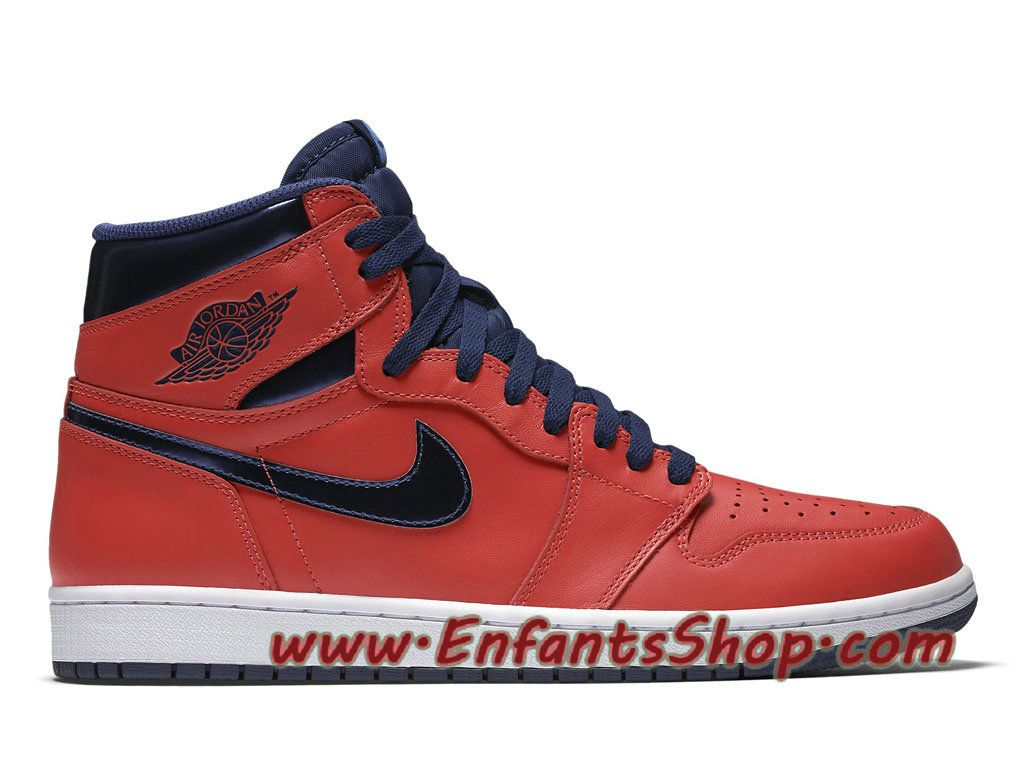 Air Jordan 1 Retro High OG David Letterman Chaussures Nike Basket Pas Cher  Pour Homme Rouge