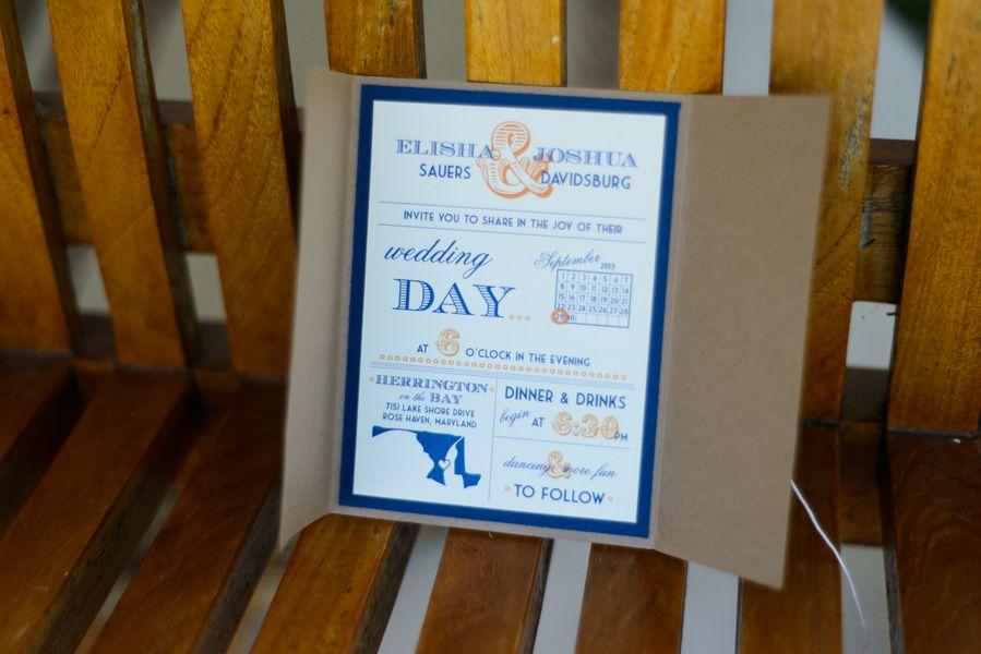 Fun nautical, Maryland themed wedding invitations | Elisha & Josh\'s ...