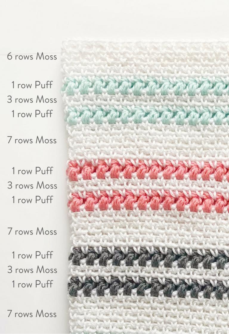 crochet moss and puff stitch blanket - Daisy Farm Crafts free ...