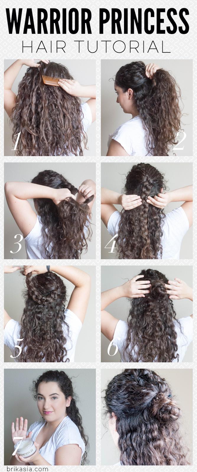 Curly hairstyles tutorials - Warrior Princess Hair Tutorial