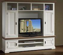 ensemble meuble tv contemporain en bois massif blanc estelle sofamobili 56 - Meuble Tv Bois Massif Blanc