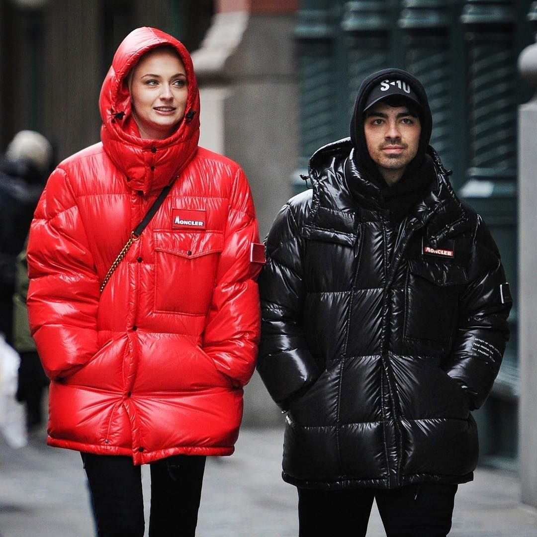 "Moncler on Instagram: ""Couple goals  @sophiet and @joejonas"