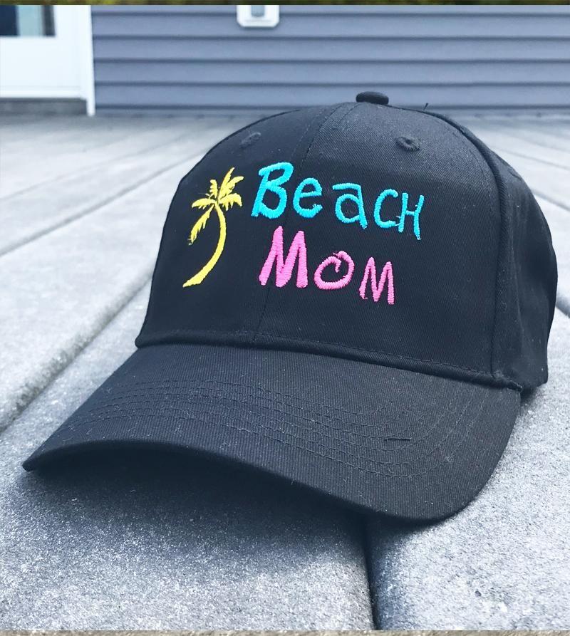 Beach Mom Embroidered Baseball Cap 1f69d0e861e2