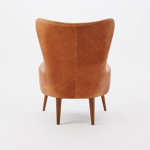Erik Leather Wing Chair. Street FurnitureWing ChairsWest ElmLiving ...