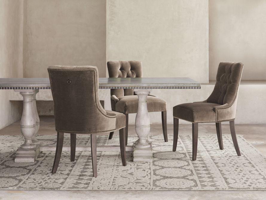 Aria Upholstered 22 Dining Side Chair In Vernon Mink Dining Room Chairs Dining Room Furnishings Dining Chairs