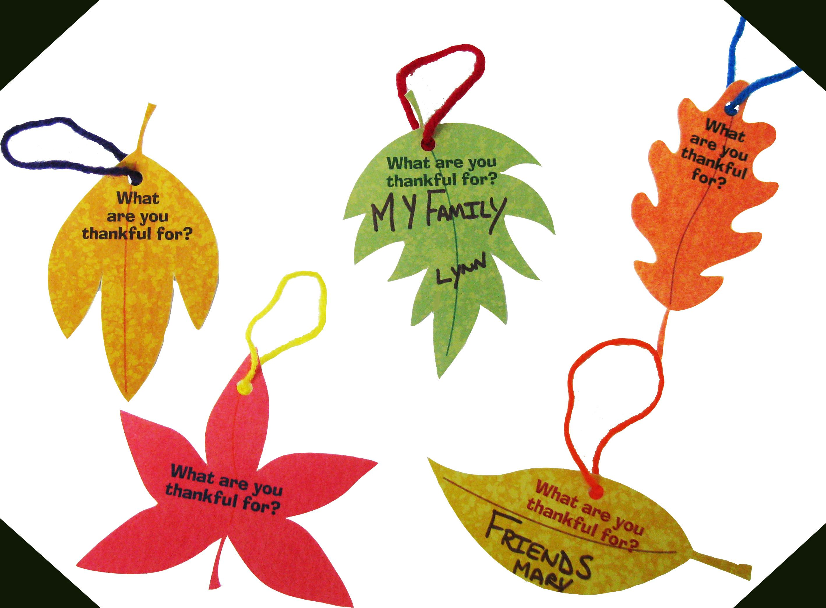 Free Printable Thankful Thanksgiving Leaves From