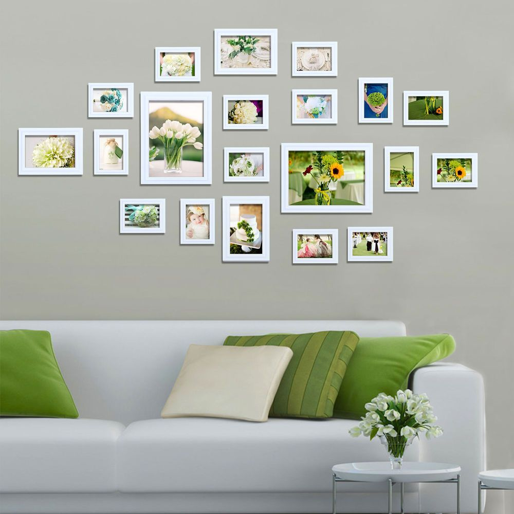 Multi Picture Photo Frame Frames 20 Pieces White Wall Frames Set ...