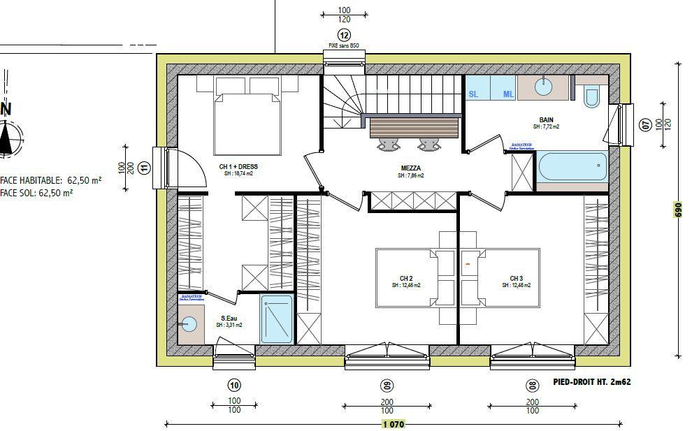 Plan Maison Rectangulaire A Etage Ooreka 3