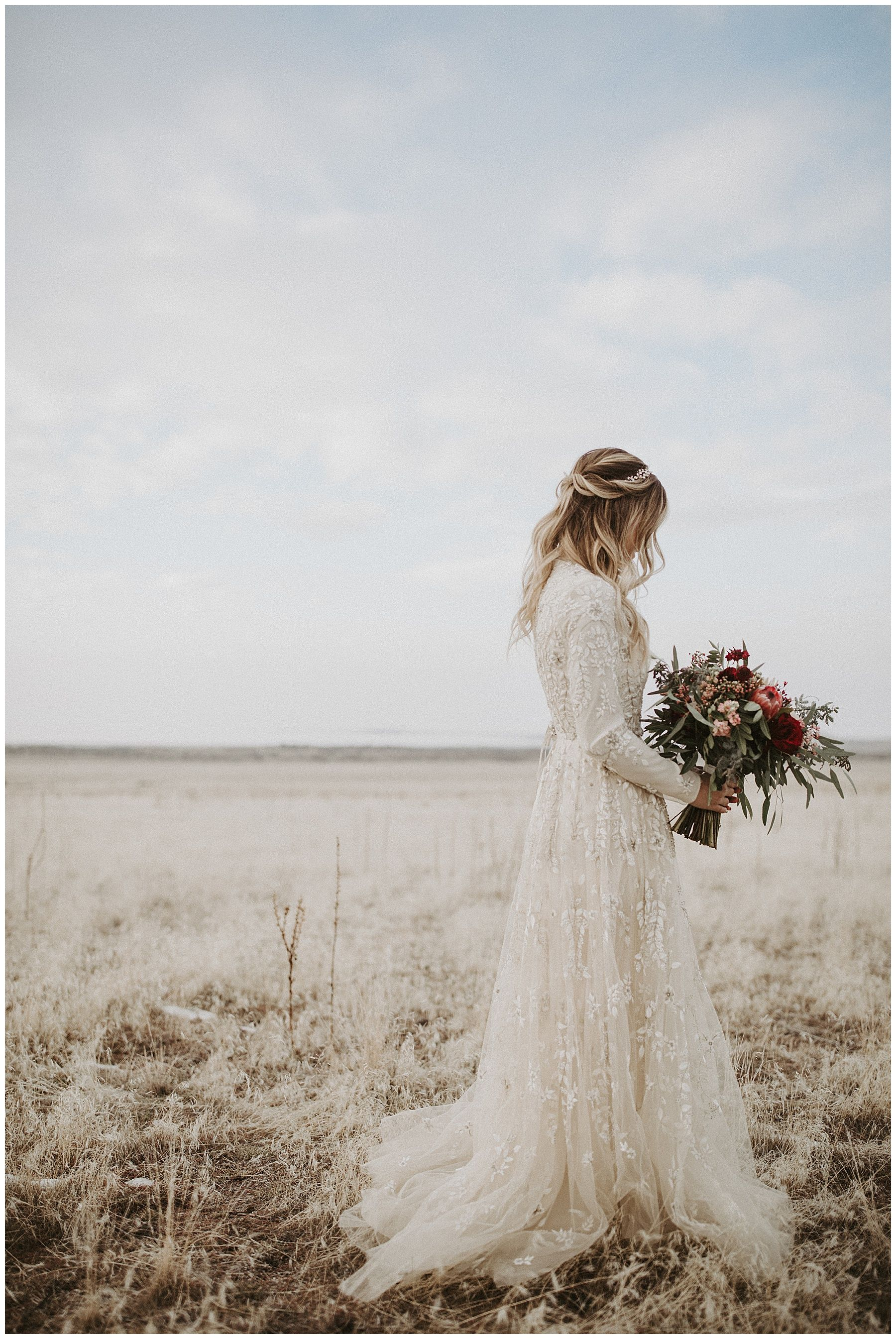Winter Antelope Island Bridals | Tressa Wixom Photography