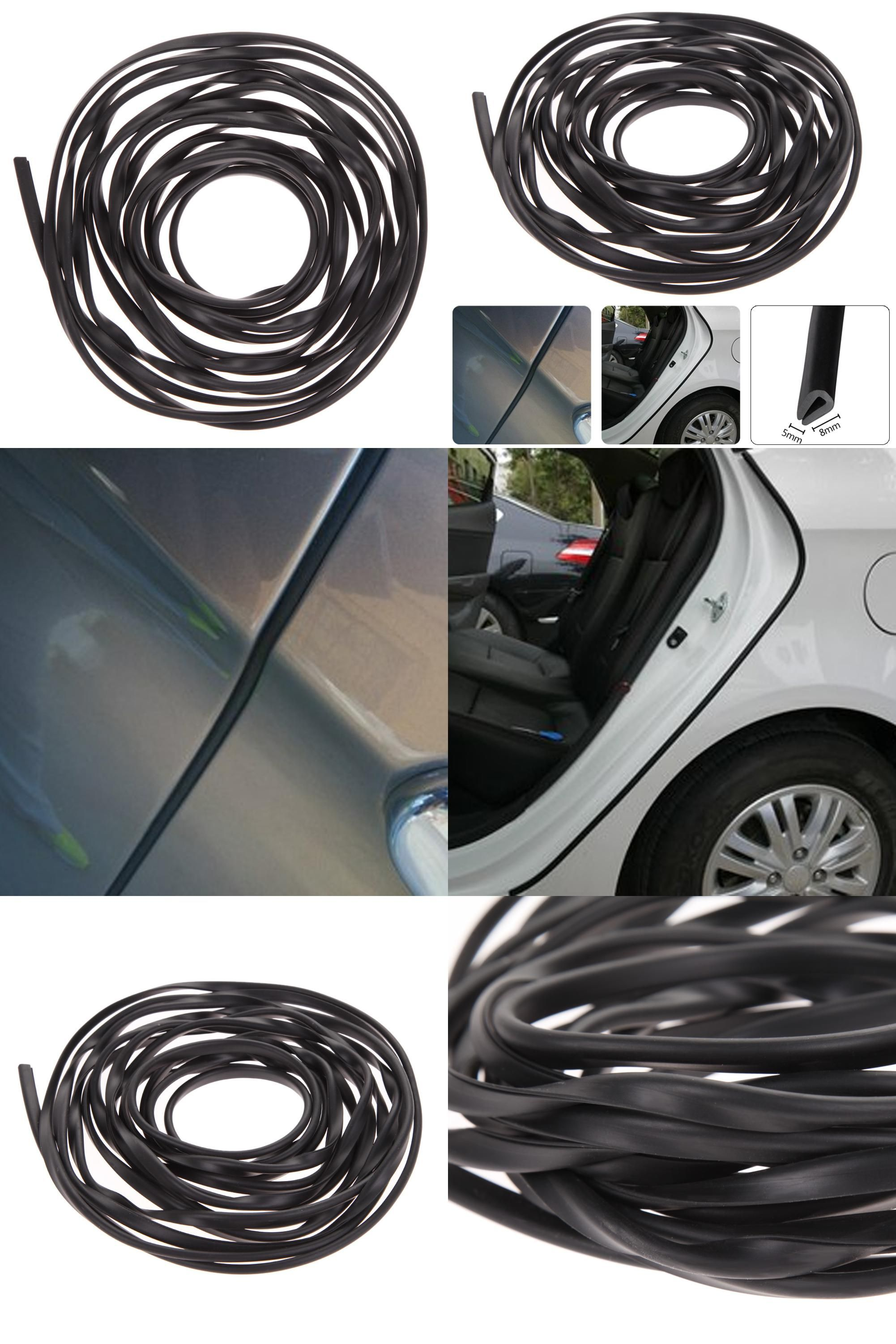 Visit to Buy] 6M Black Universal Molding for cars Trim Strip Car ...