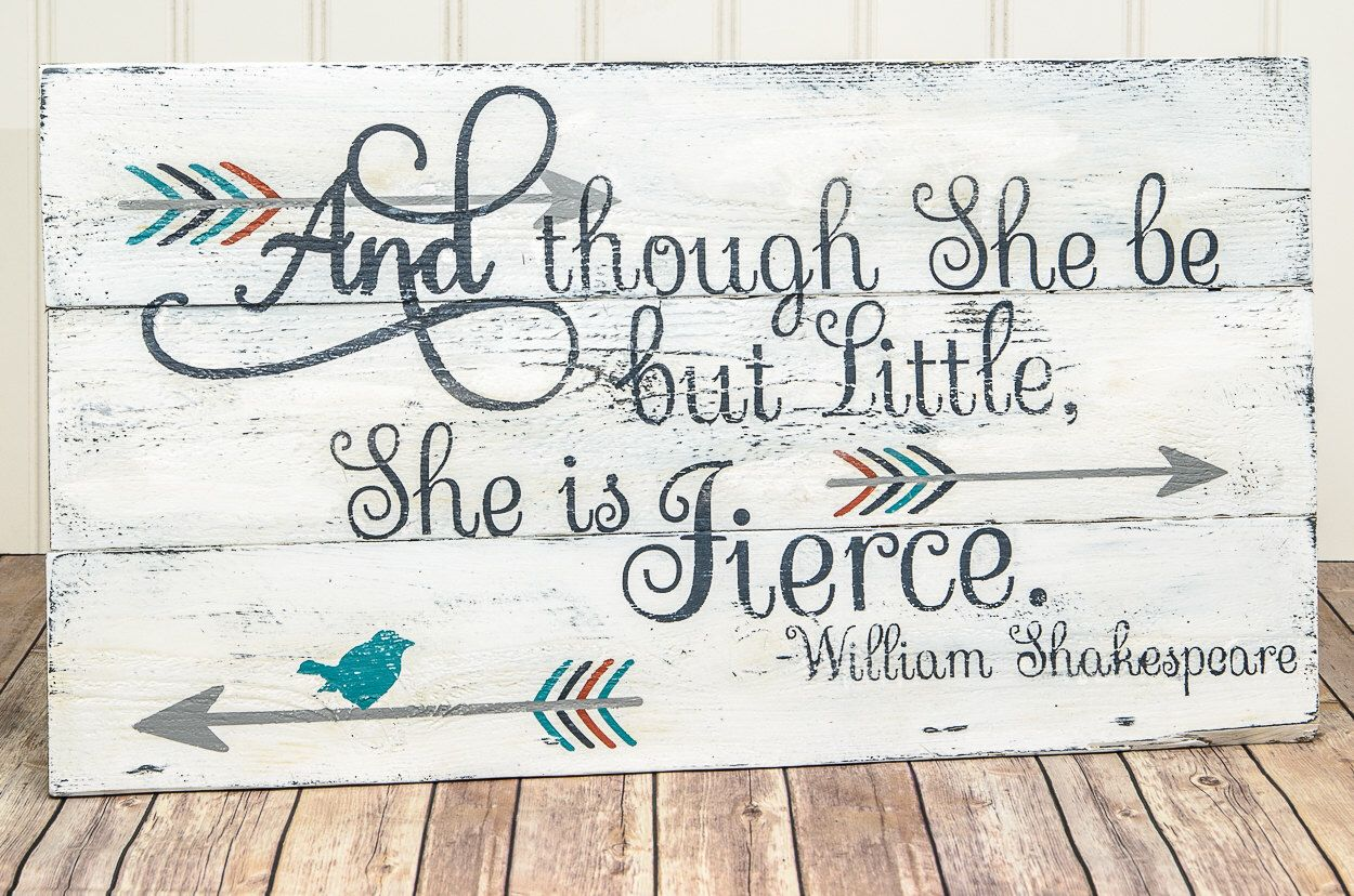 She May Be Little But She Is Fierce Pallet Sign Baby Girl