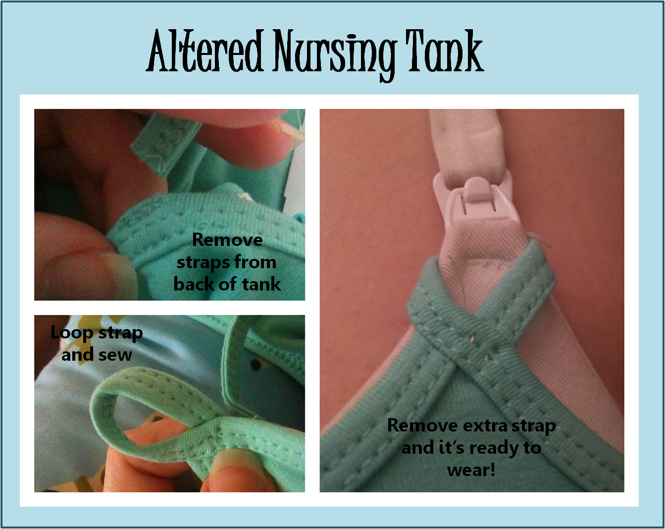 DIY nursing tank you can wear over a nursing bra. | Breastfeeding ...