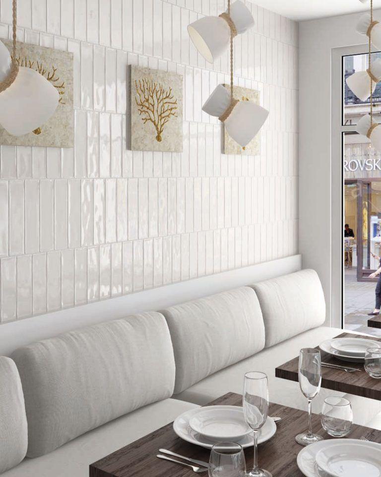 Masia Faience Cuisine Carrelage Mural Blanc Et Idee Deco Bar