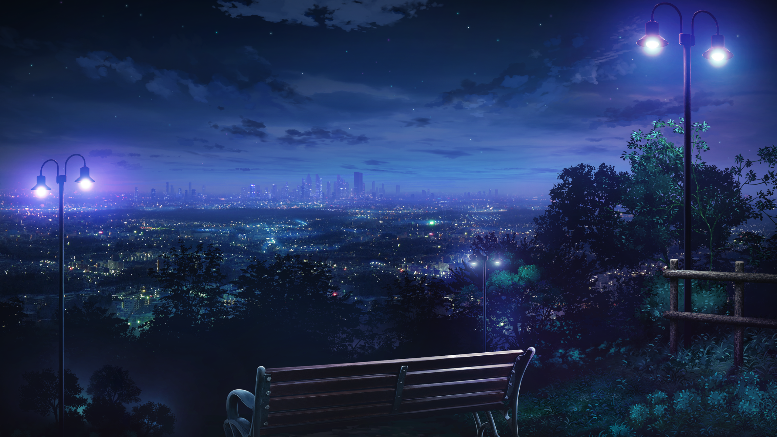 No Need To Hurry This Night 1920x1080 R Wallpapers Night Scenery Anime Scenery Scenery Wallpaper