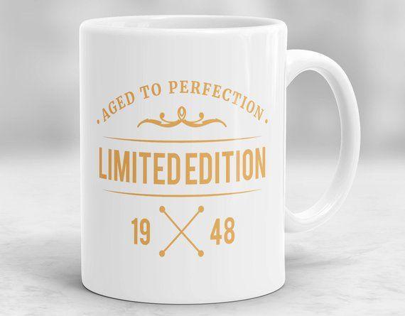 70th Birthday Mug Present Idea Gift 1948