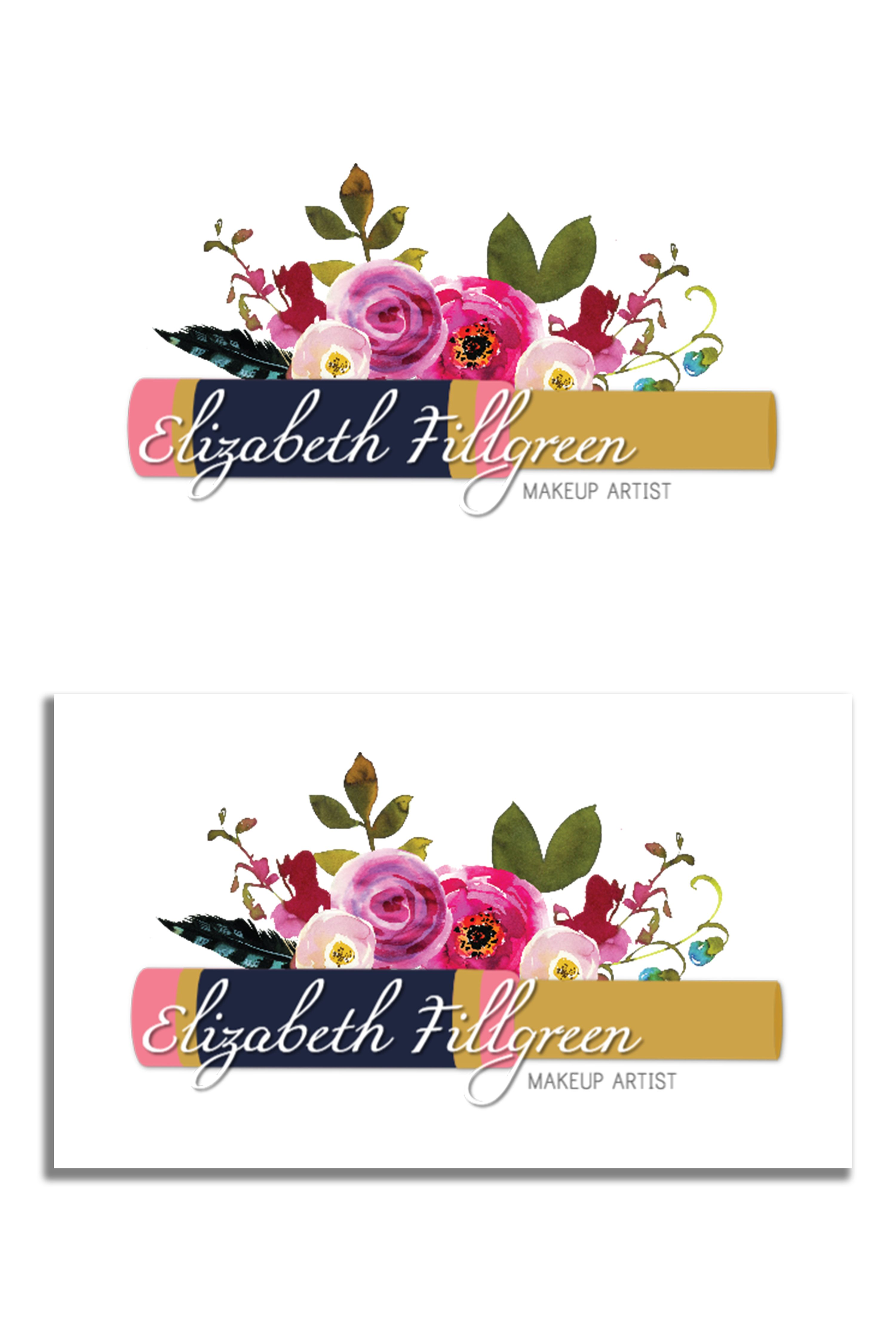 floral makeup logo from unmeasured branding. lipsense