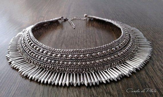 tribal choker antique silver. Ethnic tribal от CaneladePlata