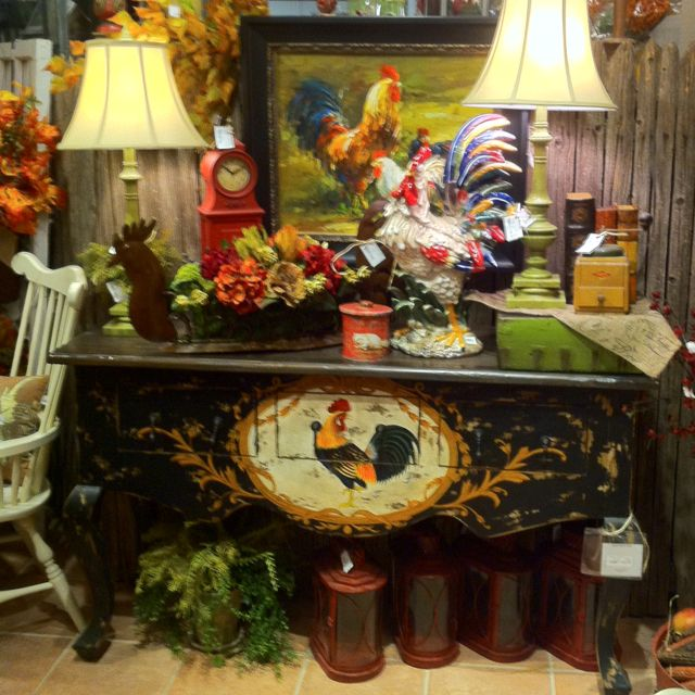 Charming Country Kitchen Decorations With Italian Style: French Painted Furniture. All At Three French Hens. Www