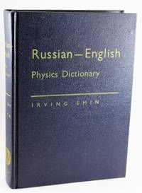Russian-English Physics Dictionary By Irving Emin - Used Books - Hardcover…