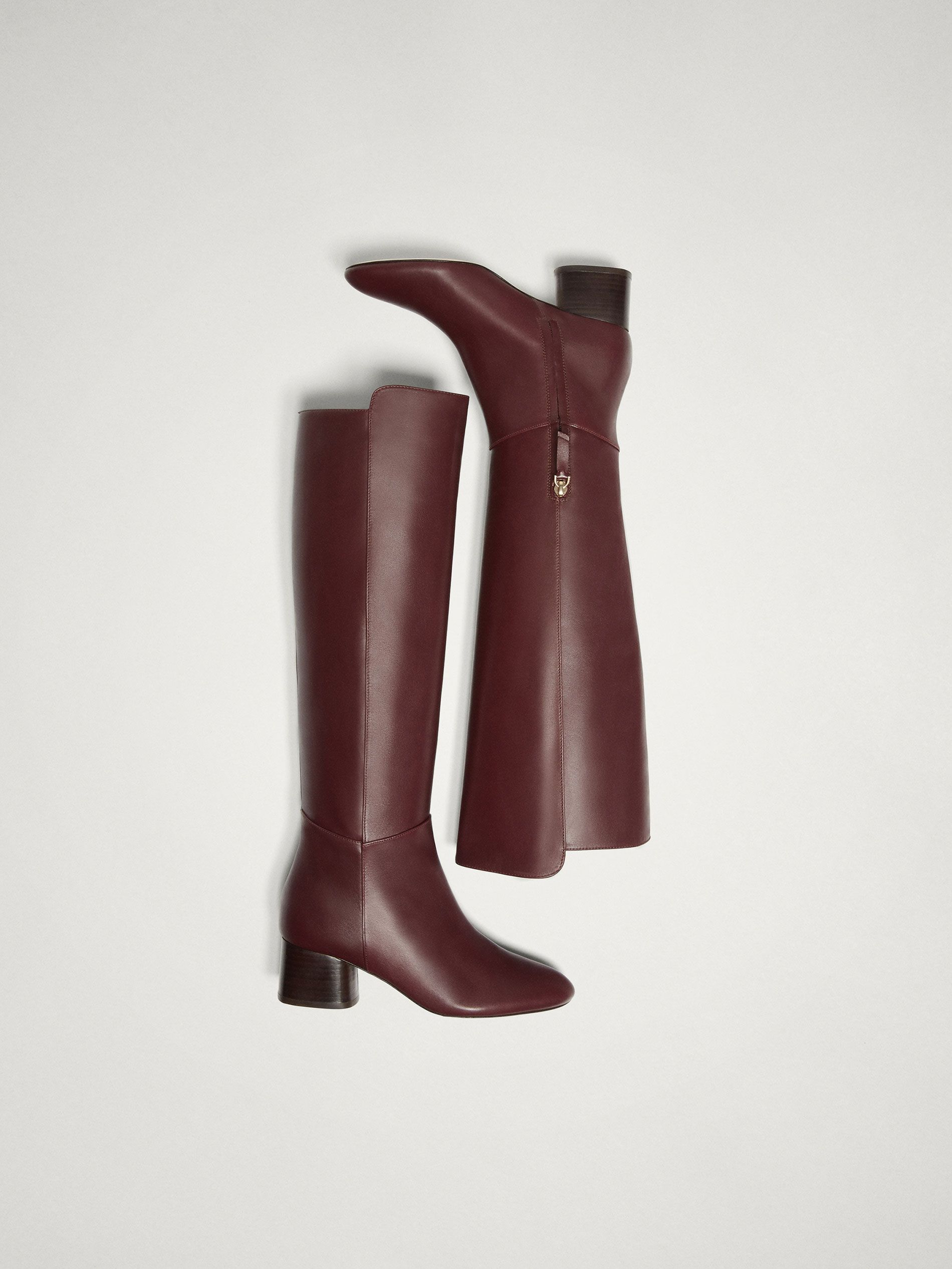 5ab34363552 Image result for BURGUNDY NAPPA LEATHER BOOTS massimo dutti ...