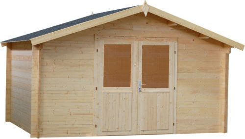 34mm Gartenhaus LEIPZIG Gerätehaus Schuppen Holz Holzhaus