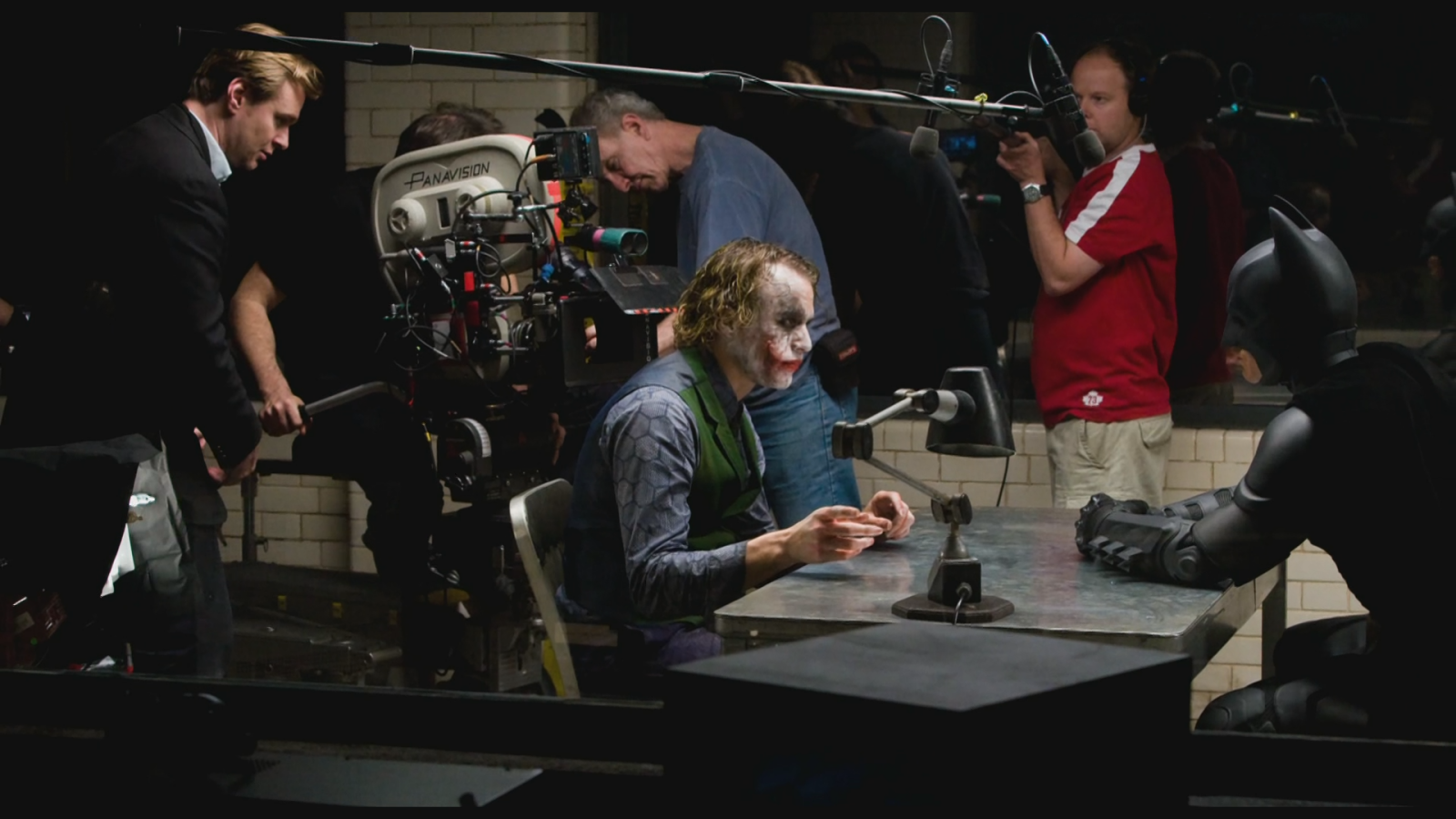 behind the scenes christian bale and heath ledger