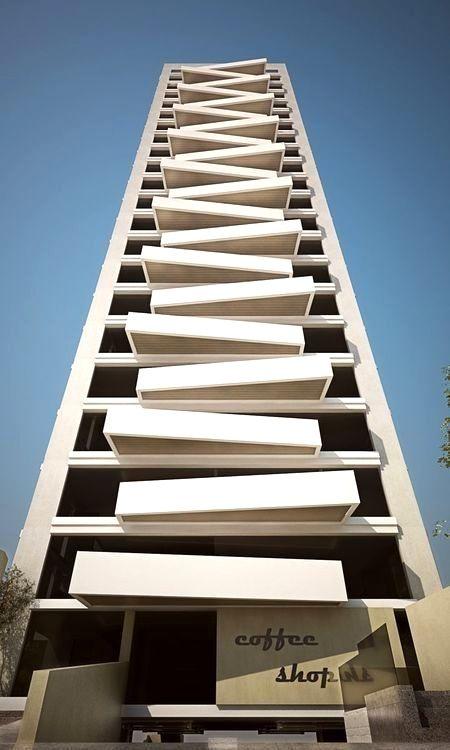 Fachadas de edificios modernos no te pierdas estas for Construcciones minimalistas