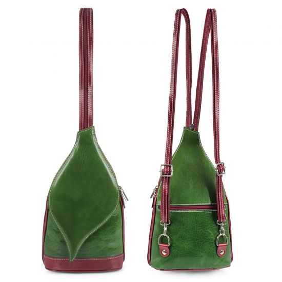 73c51d46bf Σακίδια πλάτης δερμάτινα σε πράσινο χρώμα από το www.inshoes.gr  Shoulder  leather
