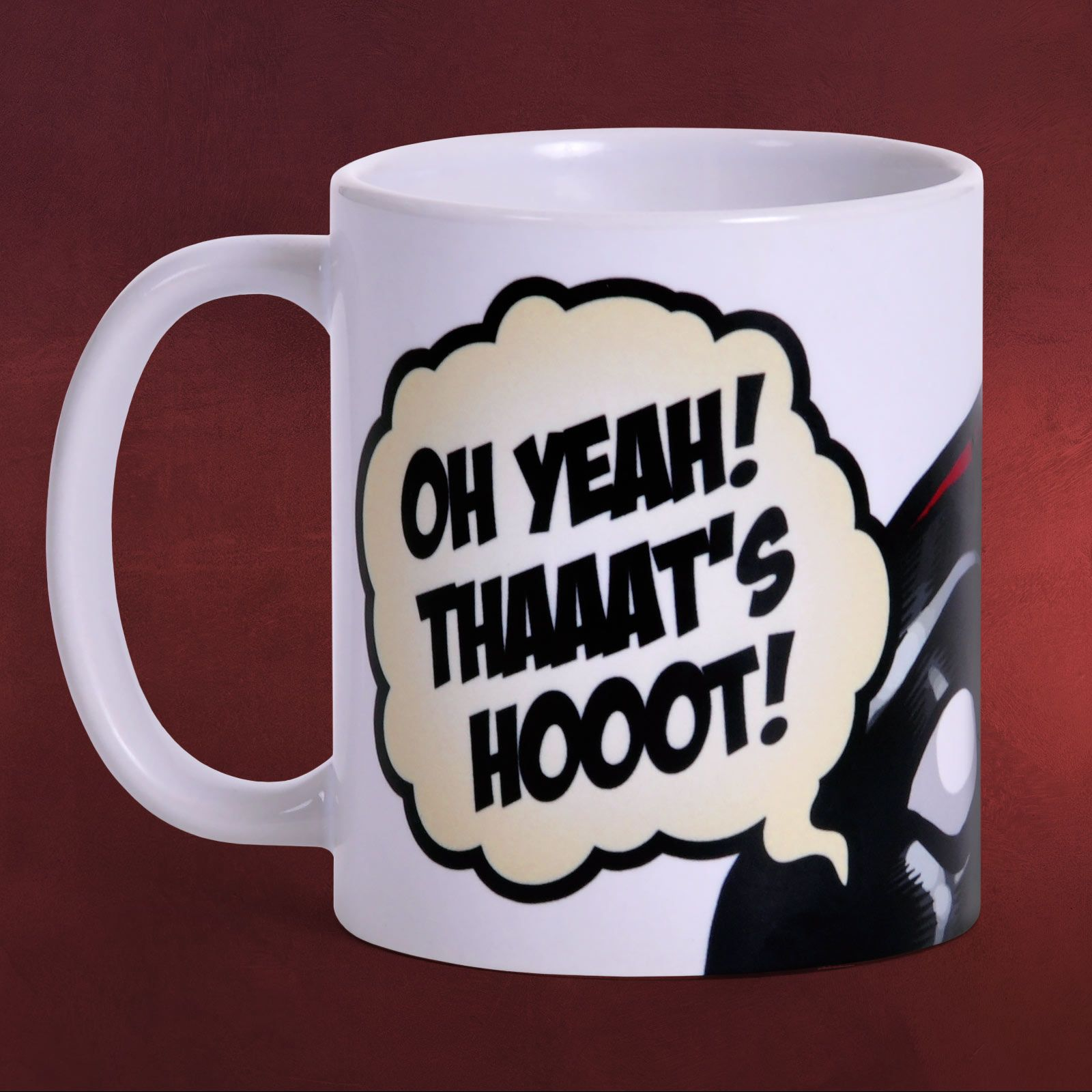 Heißer Typ, heiße Tasse. Hier drin kriegt Dein pechschwarzer Frühstückskaffee noch mehr Power und sicherlich auch einen höheren Koffeingehalt :-) Denn diese Tasse zeigt einen der abgefahrensten Comic-Helden, die Marvel zu bieten hat. Mit...