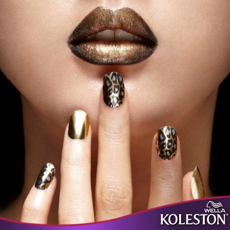 Combina tonos metálicos con animal print en tu maquillaje y uñas ...