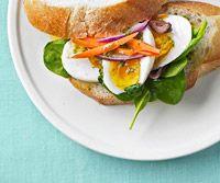 Egg Salad Sandwich with Basil-Honey-Lemon Dressing