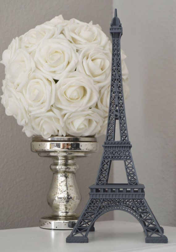 Gray Eiffel Tower Centerpiece Grey Parisians Theme Decor Paris