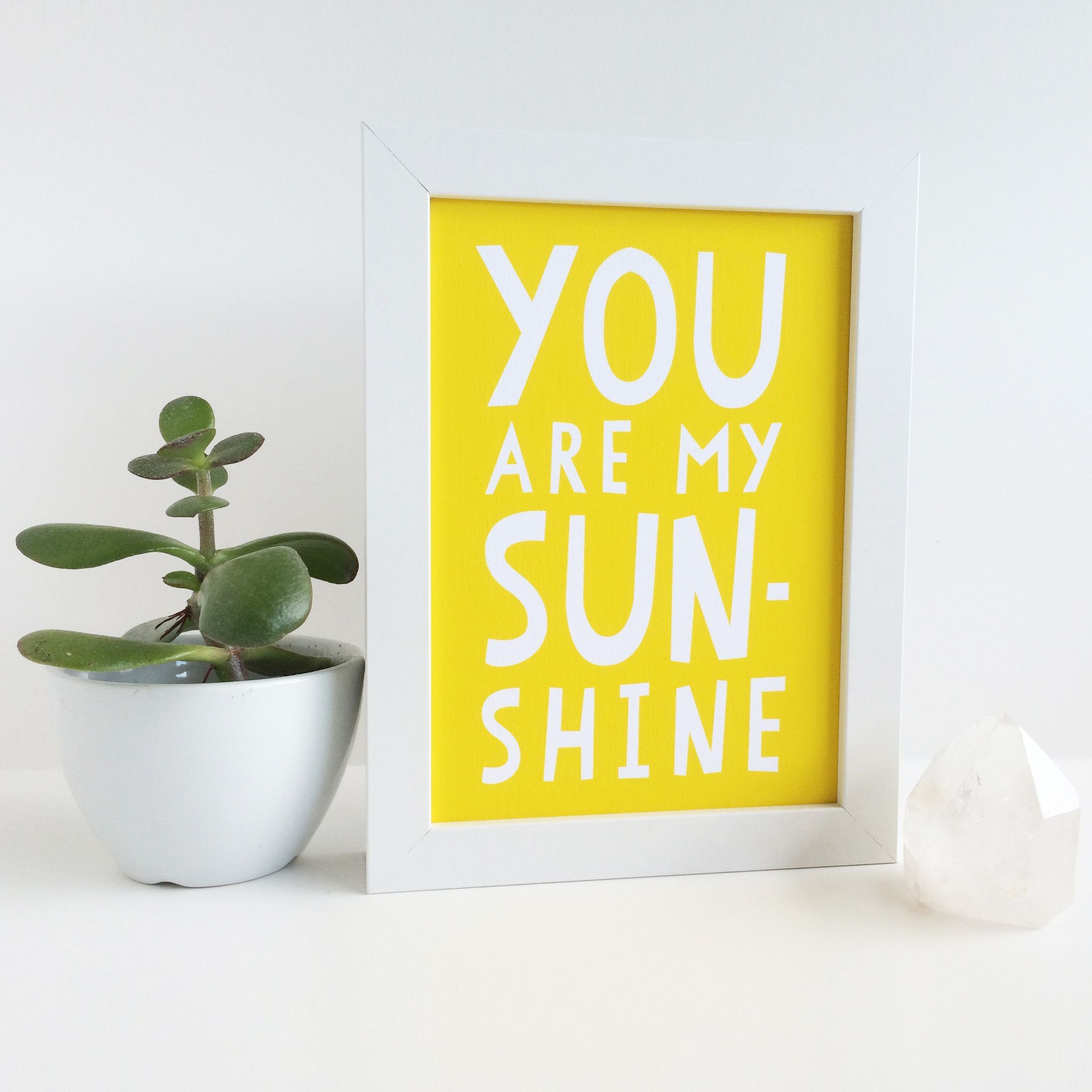 You Are My Sunshine Nursery Art Print   Nursery art, Sunshine and ...