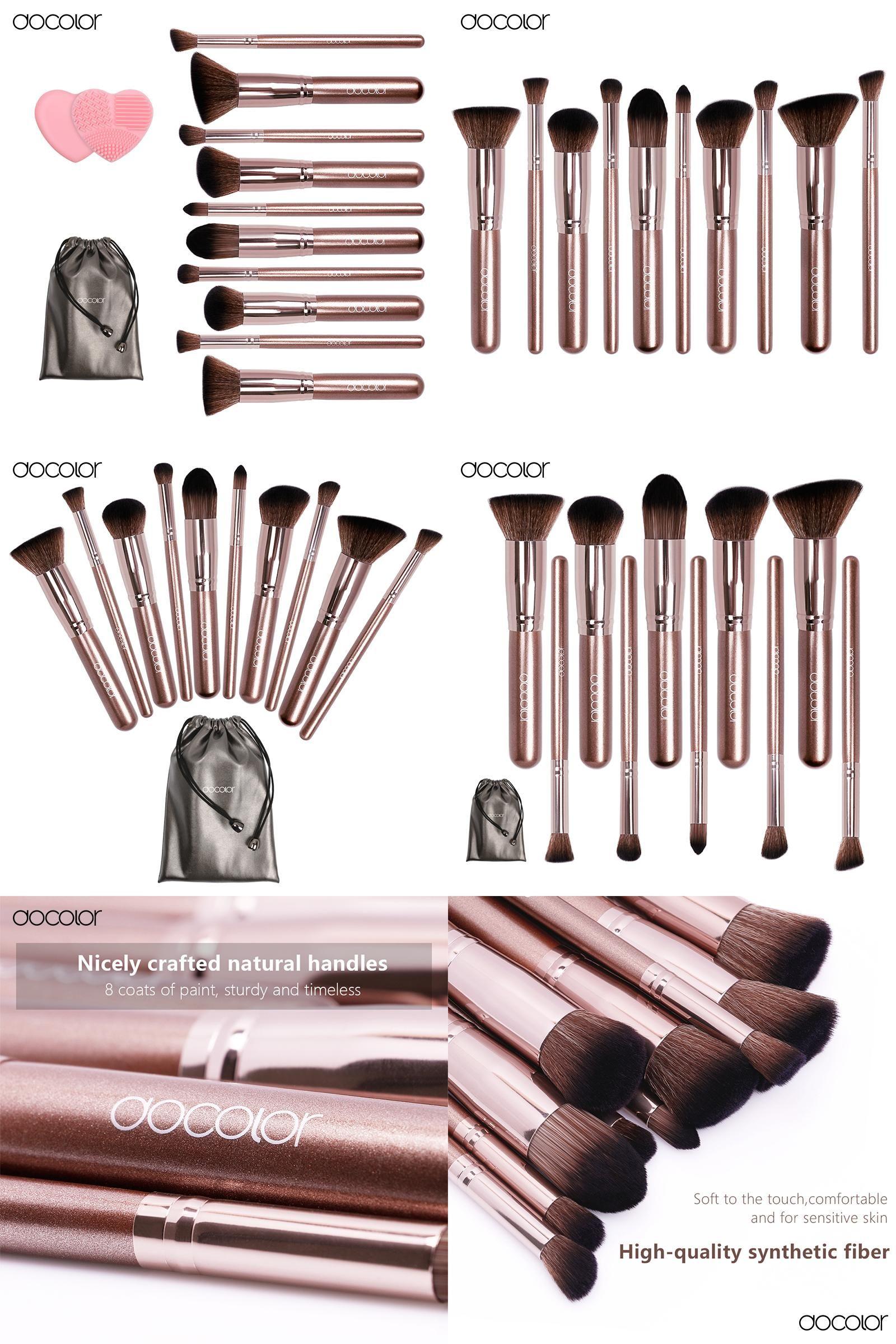 [Visit to Buy] Docolor makeup brushes 10pcs Professional