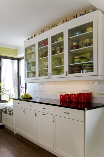 Eclectic Kitchen By Claudia Martin Asid Eclectic Kitchen Glass Fronted Kitchen Cabinets Vintage Kitchen