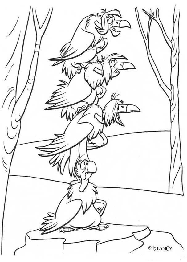 Download Or Print This Amazing Coloring Page The Jungle Book 2 Disney Movie Coloring Books Vultures Jungle Coloring Pages Jungle Book Jungle Book Characters
