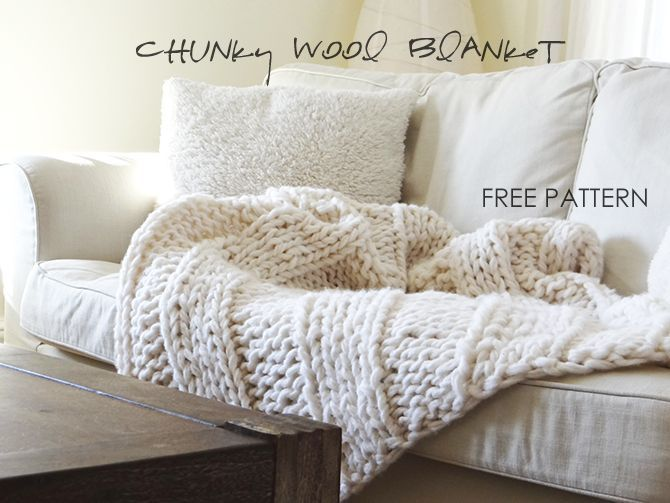 Make your own chunky knit blanket with this gorgeous pattern and kit!