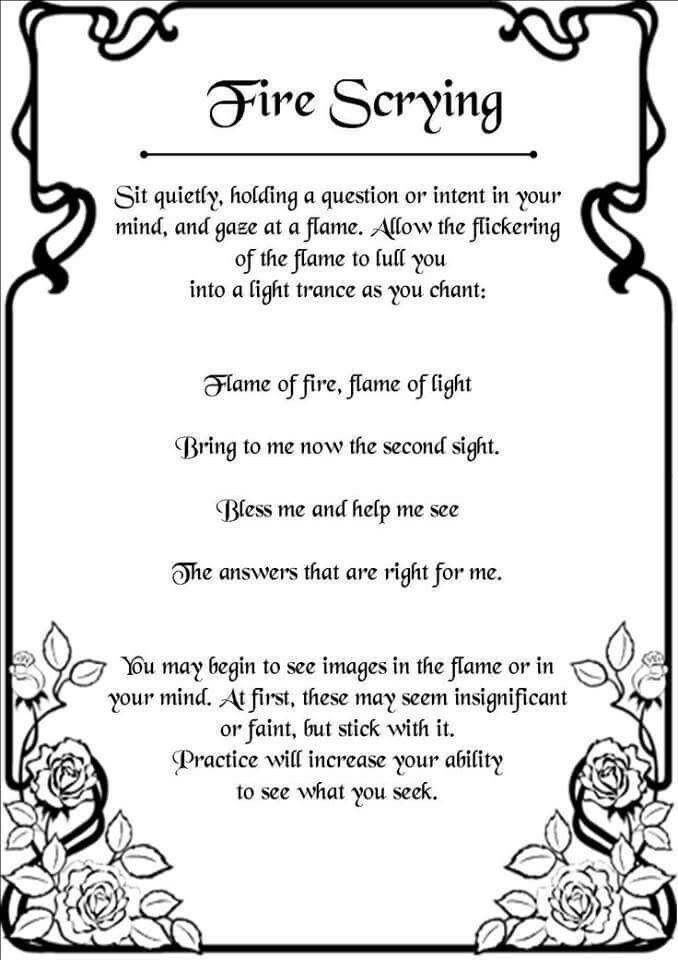 Fire Scrying | Spirituality | Witch spell, Wiccan spells