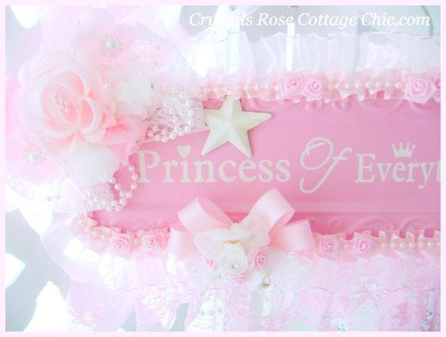 Shabby Pink Princess Wall Decor   Shabby Chic,Romantic,Victorian ...