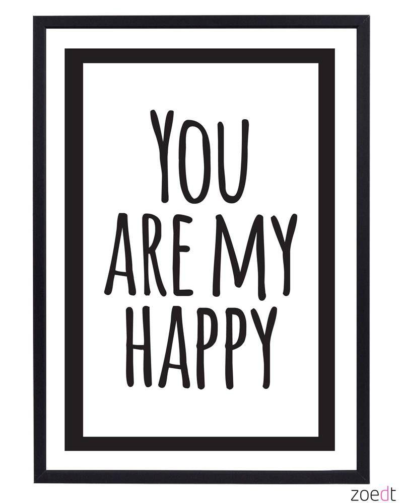 Een leuke poster van Zoedt in zwart/wit met een lieve tekst. Leuk ...