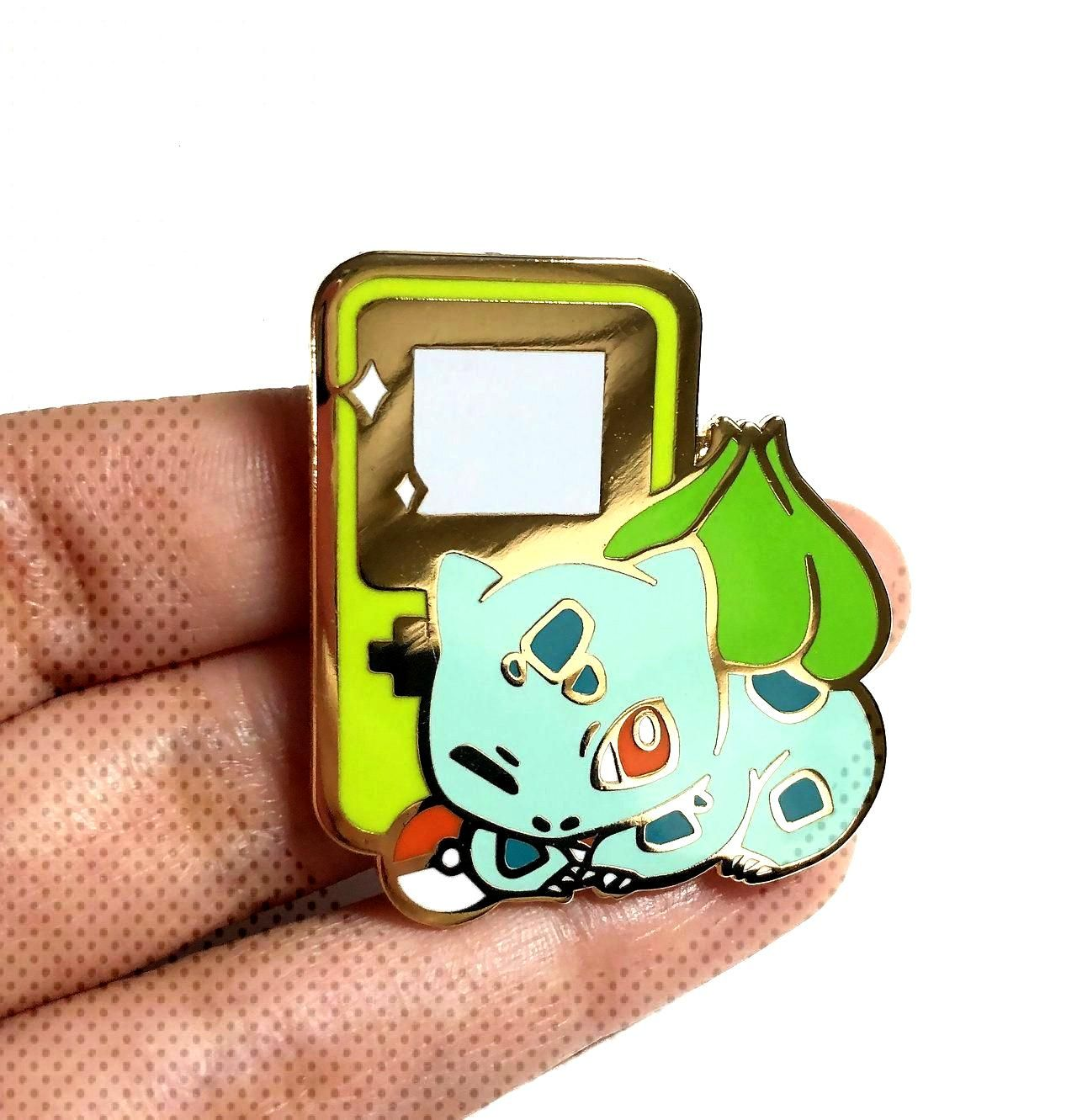 Starter Pokemon Gameboy Pins made by Alienboot -