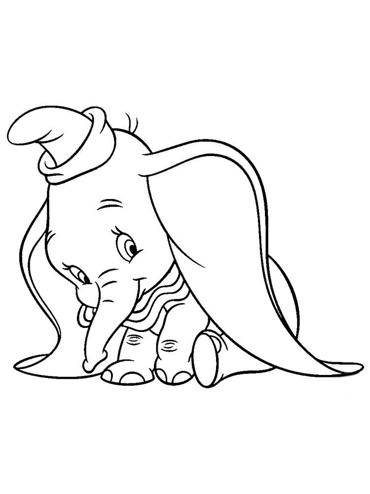 Dumbo Elephant Coloring Pages Disney Fans Certainly Know About The Elephant Film Dumbo Du Elephant Coloring Page Disney Coloring Pages Cartoon Coloring Pages