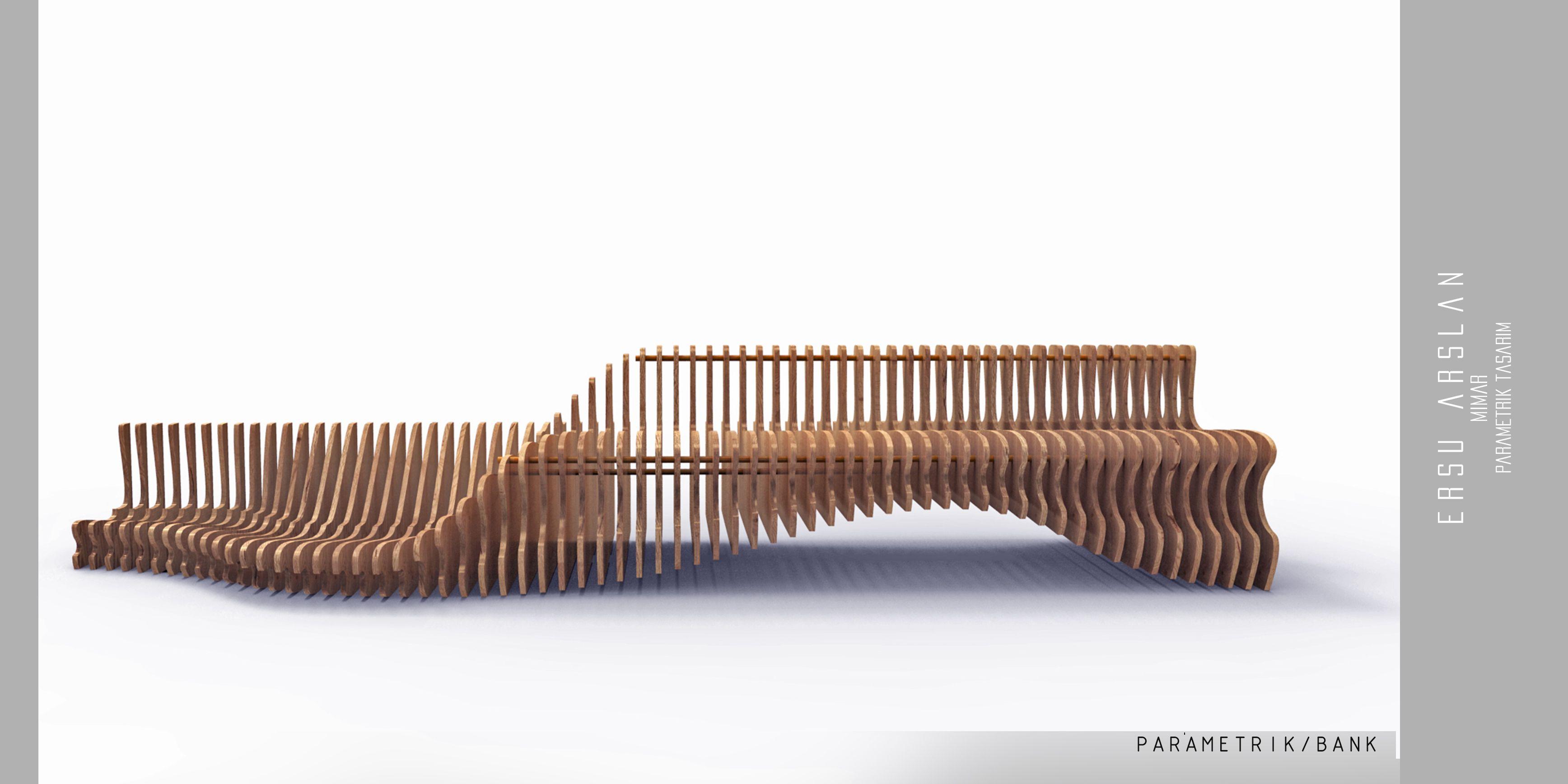 Parametric Bench Cnc Cut Bench Designed By Ersu Arslan  # Muebles Ricchezze
